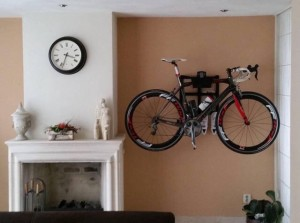 Wall mount Bike Rack Storage Solution hanger hanging roadbike Artivelo BikeDock Loft Corno