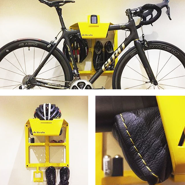 bike shelf artivelo on the wall by phil artivelo english. Black Bedroom Furniture Sets. Home Design Ideas