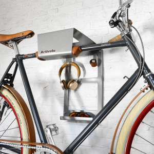 Artivelo BikeDock Urban Aluminium Grey Bike Wall Mount Bike Rack Bike Shelf Bike Wall bracket Bike hanger bike storage Bike wall mount hanging bike system fiets ophangsysteem Lumberjac Roetz_teaser_6