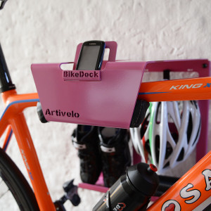 bicycle wall mount pink