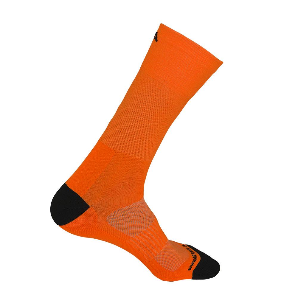 cycling socks neon orange high artivelo englishLasting Hardloopsokken Oranje #14