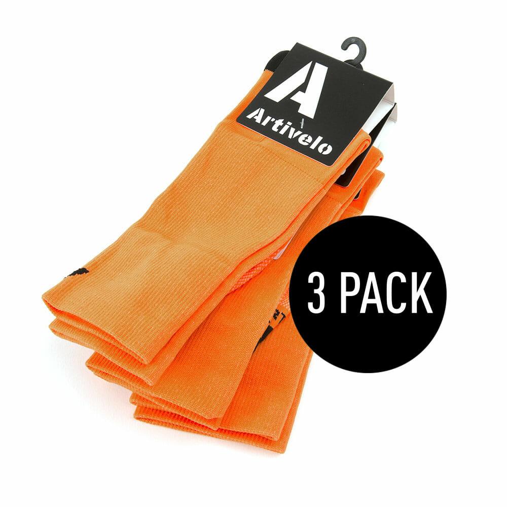 cycling socks neon orange high artivelo englishLasting Hardloopsokken Oranje #21