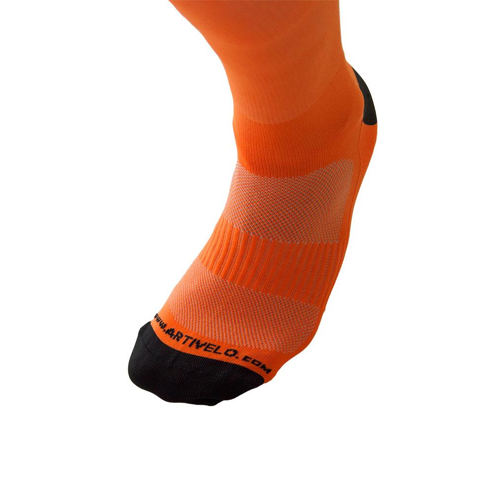 cycling socks neon orange high artivelo englishLasting Hardloopsokken Oranje #5