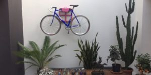 Pink steel lether hanging system racing bike