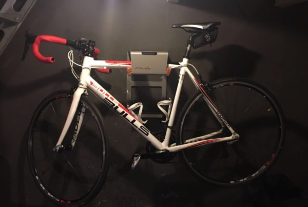 Gray all in one hanging system racing bike