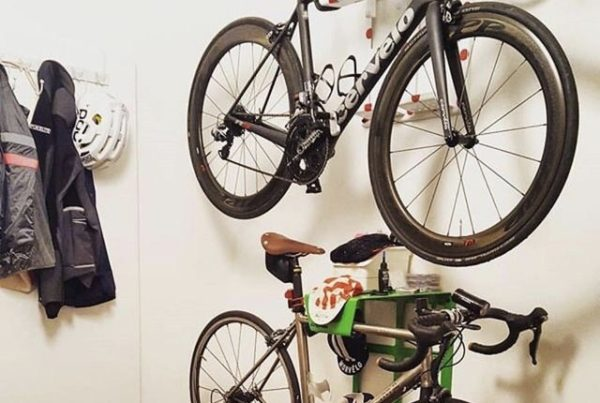 Green steel lether hanging system racing bike