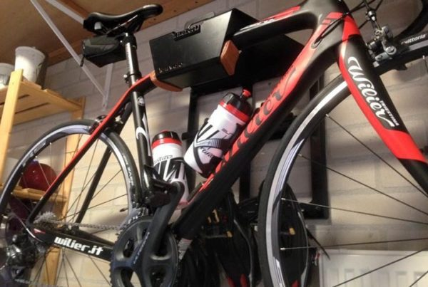 Black all in one hanging system racing bike