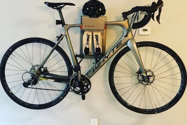 Hang your bike on the wall like the sunrise cycling guy