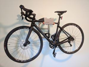 Grey steel lether hanging system racing bike