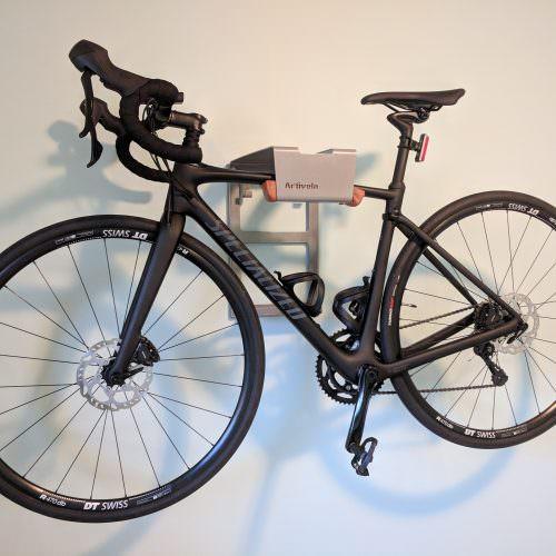 Grey steel lether hanging system racing bike