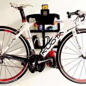 Black steel lether hanging system racing bike