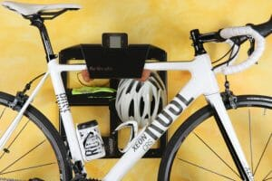 Black wall bracket road bicycle
