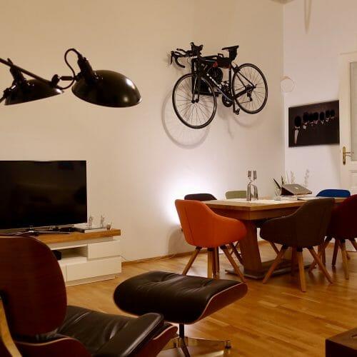 Hang your bike on the wall like Lukas