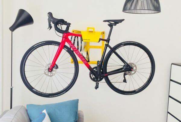Wall hanging system racingbike yellow