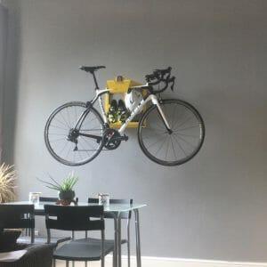 Road bike hang up wall in livingsroom