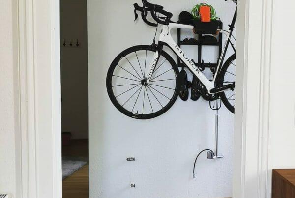 Racing bike wall system color black