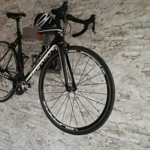 Hang your bike on a brick wall