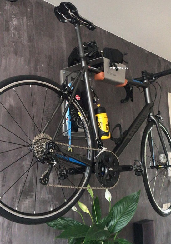 Racing bike wall system color grey
