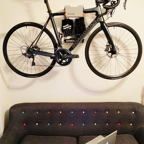 Storage racingbike in your livingroom