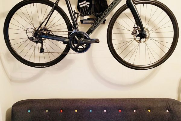 Storage racingbike in your livingroom