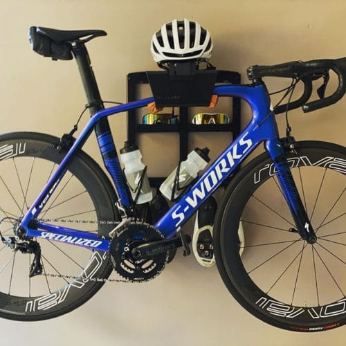 Storage system for a curved top tube racing bike