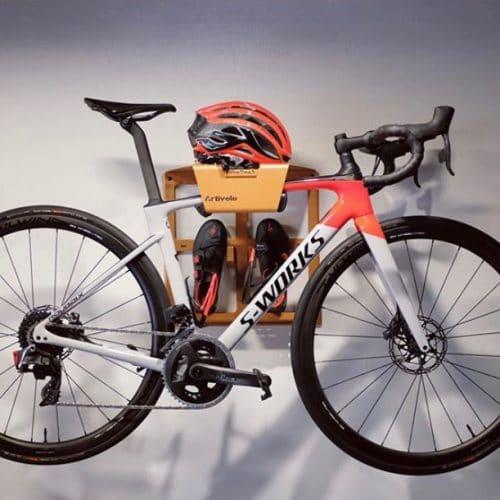 Custom made bike dock in orange
