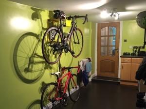Hang je fiets aan de muur