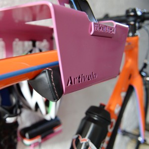 Artivelo BikeDock Rosa Bike Wallmount Fiets ophangsysteem leather Foam Cushion