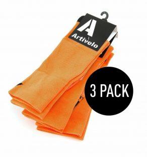 artivelo-wielrensokken-fluor-oranje-fietssokken-race-sokken-wielersokken-extra-hoog-cycling-socks-fluo-orange-extra-high-long-aero-3pack-3paar