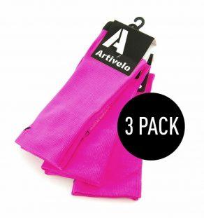 artivelo-wielrensokken-fluor-roze-fietssokken-race-sokken-wielersokken-extra-hoog-cycling-socks-fluo-pink-extra-high-long-aero-3pack-3paar