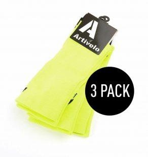 artivelo-wielrensokken-fluor-geel-fietssokken-race-sokken-wielersokken-extra-hoog-cycling-socks-fluo-orange-extra-high-long-aero