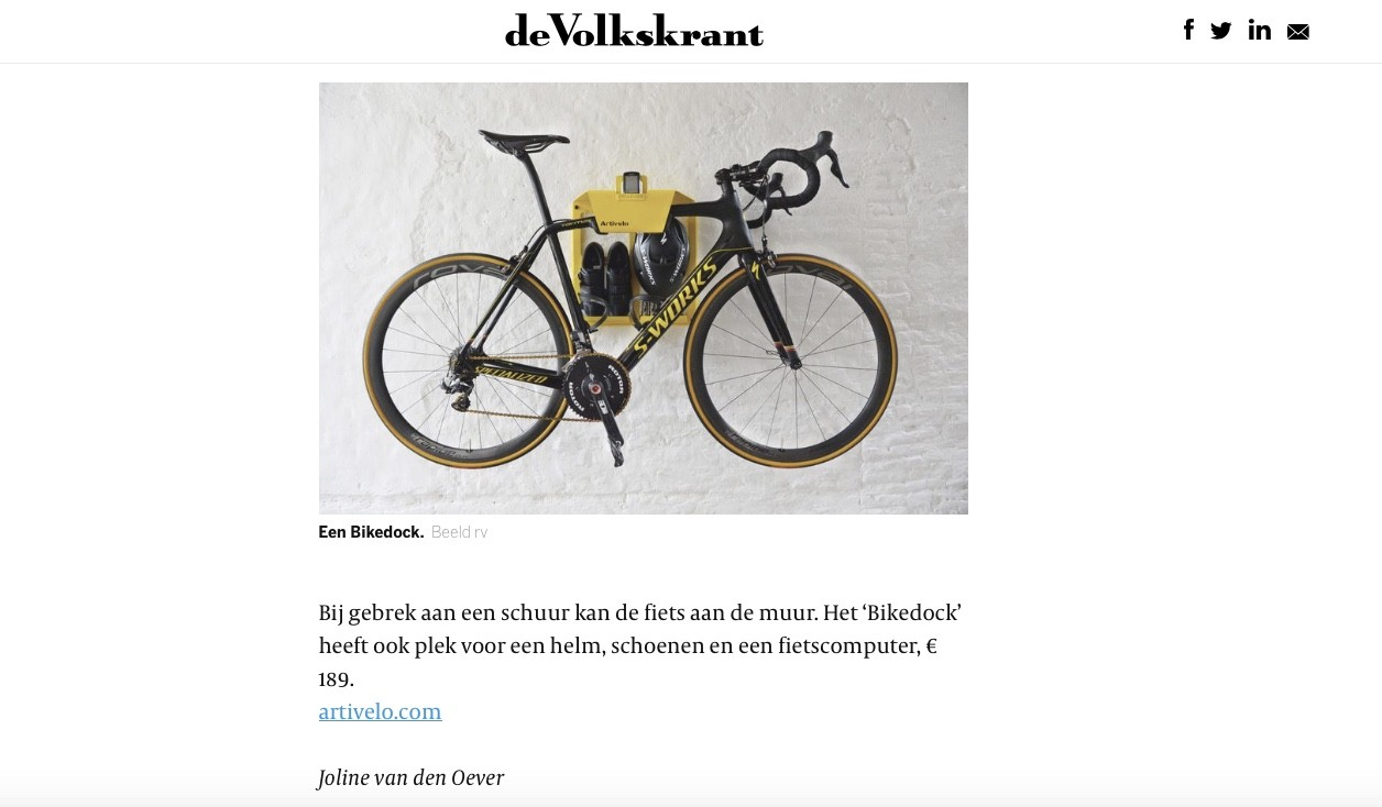 Artivelo in de Volkskrant